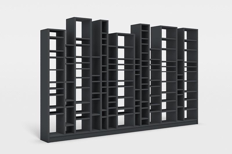 Bücherregal wand schräg  Bücherregale - Verta Möbel nach Maß